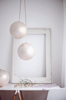 large pink Christmas baubles - create an instant Christmas mood