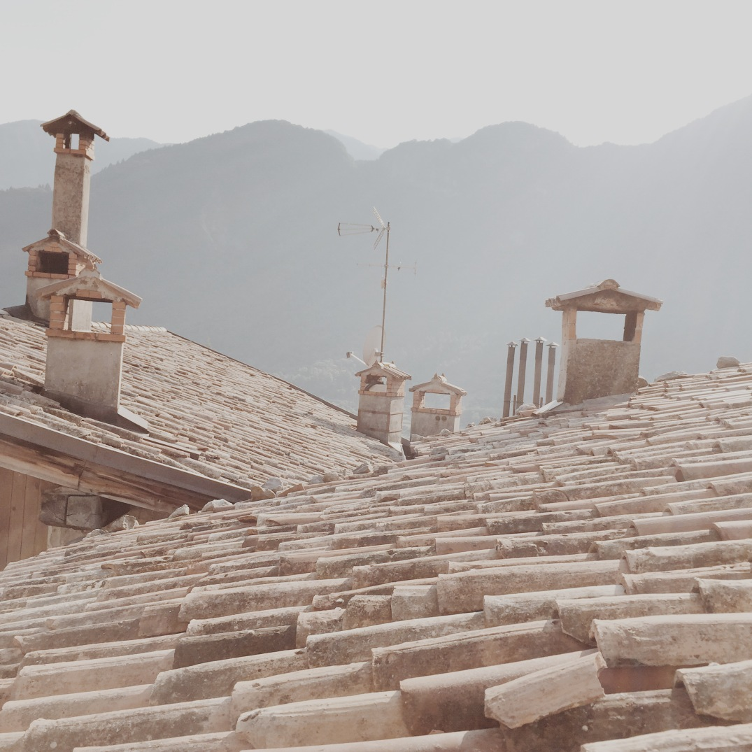 rooftops of Borgo di Canale, Italy