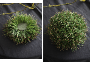 DIY Christmas decoration - pine balls