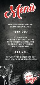 Deutschlands groeßte Kuechenparty Menue
