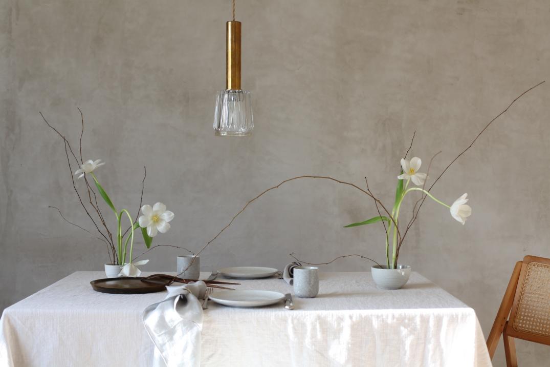 Schale mit Kenzan Blumensteckigel