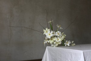 Centerpiece with tulips - Spring floral arrangement