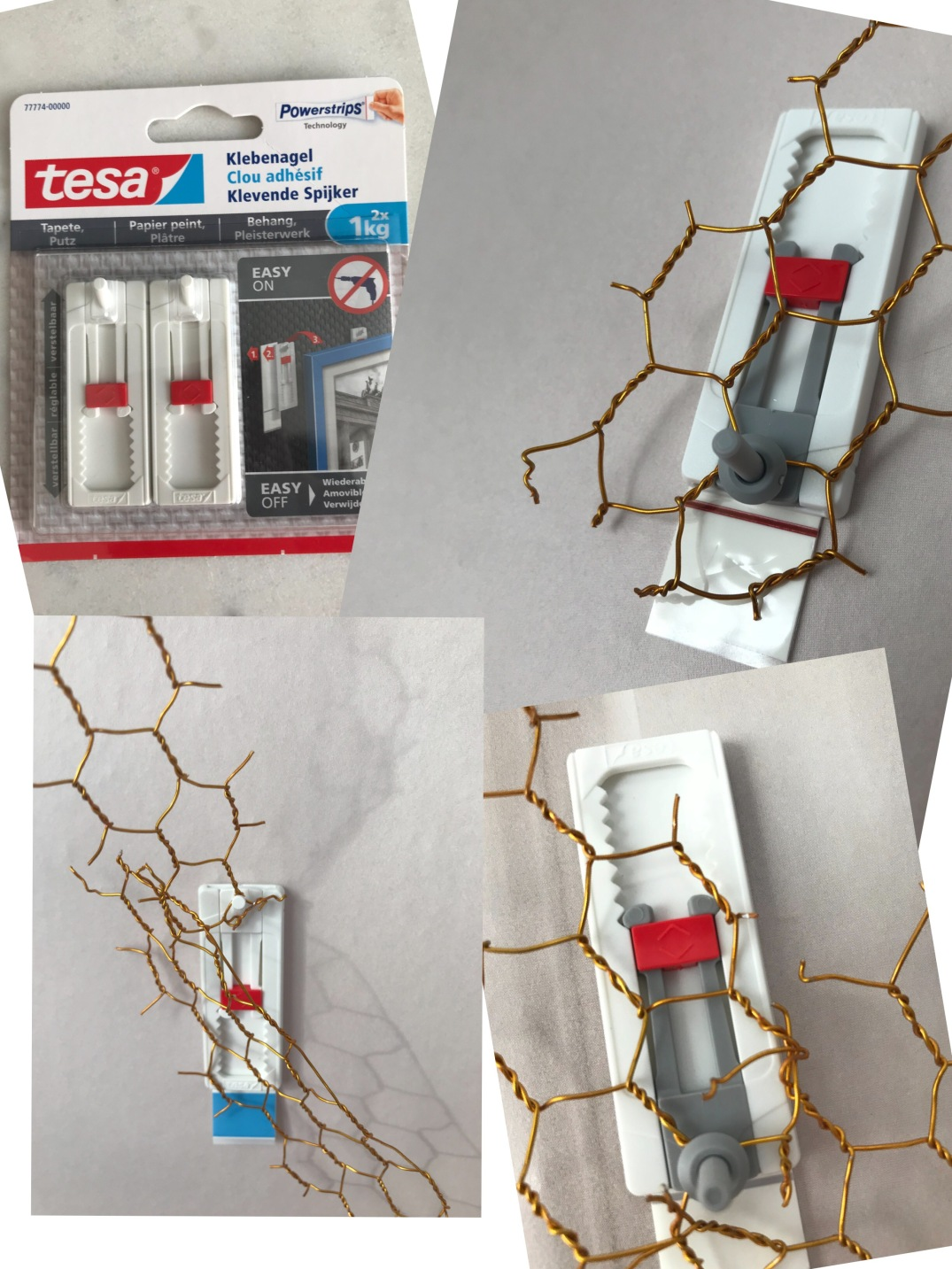 installing an XXL wreath with TESA POWERSTRIPS