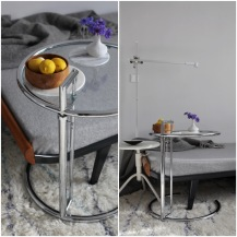 Classicon Adjustable Table, Eileen Gray, Vintage Cleopatra Daybed, Dyson Leuchte